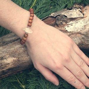 Citrine Sandalwood Success Bracelet Boho Mala Gems